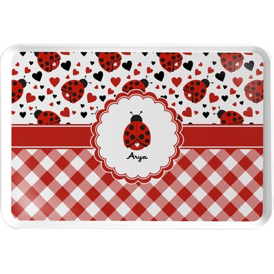 Ladybugs & Gingham Serving Tray (Personalized)