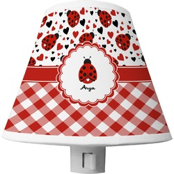 Ladybugs & Gingham Shade Night Light (Personalized)