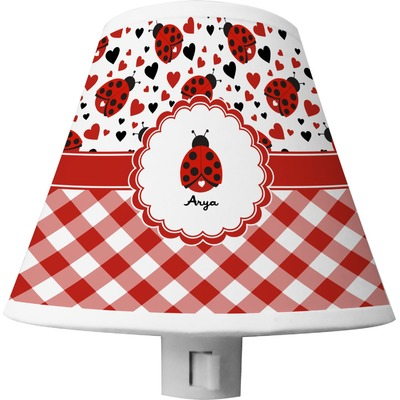 Ladybugs & Gingham Shade Night Light (Personalized)