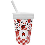 Ladybugs & Gingham Sippy Cup with Straw (Personalized)