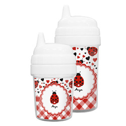 Ladybugs & Gingham Sippy Cup (Personalized)