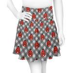 Ladybugs & Gingham Skater Skirt (Personalized)