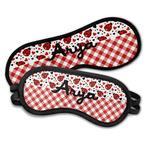Ladybugs & Gingham Sleeping Eye Masks (Personalized)