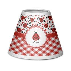 Ladybugs & Gingham Chandelier Lamp Shade (Personalized)