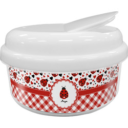 Ladybugs & Gingham Snack Container (Personalized)
