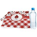 Ladybugs & Gingham Sports & Fitness Towel (Personalized)
