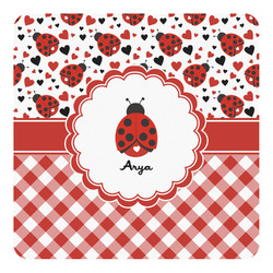 Ladybugs & Gingham Square Decal (Personalized)
