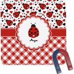 Ladybugs & Gingham Square Fridge Magnet (Personalized)