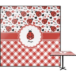 Ladybugs & Gingham Square Table Top (Personalized)