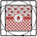 Ladybugs & Gingham Square Trivet (Personalized)