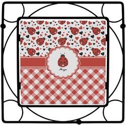 Ladybugs & Gingham Square Trivet (Personalized)