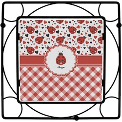Ladybugs & Gingham Trivet (Personalized)