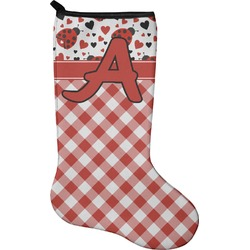 Ladybugs & Gingham Christmas Stocking - Neoprene (Personalized)