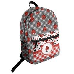 Ladybugs & Gingham Student Backpack (Personalized)