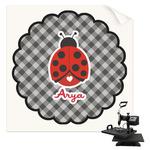 Ladybugs & Gingham Sublimation Transfer (Personalized)