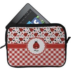 Ladybugs & Gingham Tablet Case / Sleeve (Personalized)
