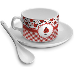 Ladybugs & Gingham Tea Cups (Personalized)