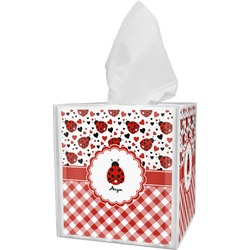Ladybugs & Gingham Tissue Box Cover (Personalized)