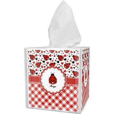 Ladybugs & Gingham Tissue Box Cover (Personalized)