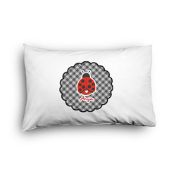Ladybugs & Gingham Pillow Case - Toddler - Graphic (Personalized)
