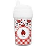 Ladybugs & Gingham Toddler Sippy Cup (Personalized)