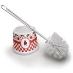 Ladybugs & Gingham Toilet Brush (Personalized)