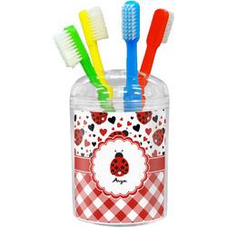 Ladybugs & Gingham Toothbrush Holder (Personalized)