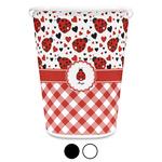 Ladybugs & Gingham Waste Basket (Personalized)