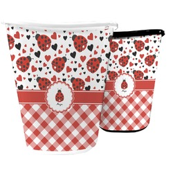 Ladybugs & Gingham Waste Basket (Personalized)