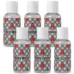 Ladybugs & Gingham Travel Bottles (Personalized)