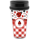 Ladybugs & Gingham Travel Mugs (Personalized)