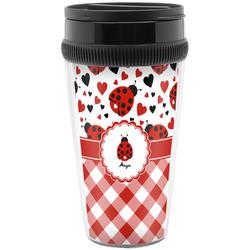 Ladybugs & Gingham Travel Mugs (Personalized)