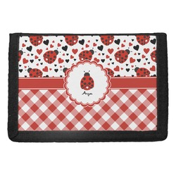 Ladybugs & Gingham Trifold Wallet (Personalized)