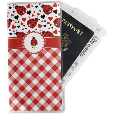 Ladybugs & Gingham Travel Document Holder