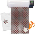 "Ladybugs & Gingham Heat Transfer Vinyl Sheet (12""x18"")"