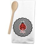 Ladybugs & Gingham Waffle Weave Kitchen Towel (Personalized)