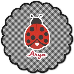 Ladybugs & Gingham Graphic Decal - Custom Sized (Personalized)