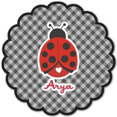 Ladybugs & Gingham Graphic Decal - Custom Sizes (Personalized)