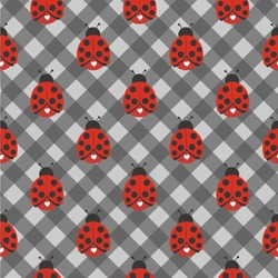 Ladybugs & Gingham Wallpaper & Surface Covering