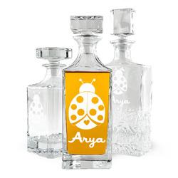 Ladybugs & Gingham Whiskey Decanter (Personalized)
