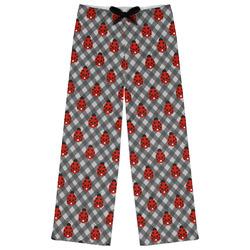 Ladybugs & Gingham Womens Pajama Pants (Personalized)