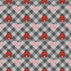 Ladybugs & Gingham Wrapping Paper (Personalized)