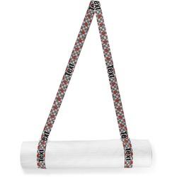 Ladybugs & Gingham Yoga Mat Strap (Personalized)