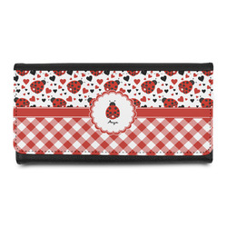 Ladybugs & Gingham Leatherette Ladies Wallet (Personalized)