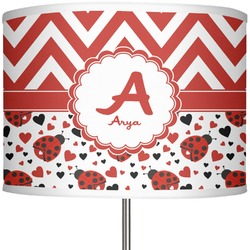 "Ladybugs & Chevron 13"" Drum Lamp Shade (Personalized)"
