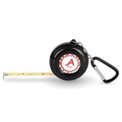 Ladybugs & Chevron Pocket Tape Measure - 6 Ft w/ Carabiner Clip (Personalized)