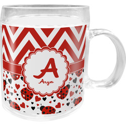 Ladybugs & Chevron Acrylic Kids Mug (Personalized)