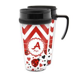 Ladybugs & Chevron Acrylic Travel Mugs (Personalized)