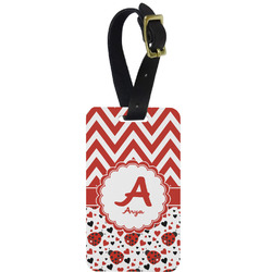 Ladybugs & Chevron Aluminum Luggage Tag (Personalized)