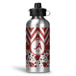 Ladybugs & Chevron Water Bottle - Aluminum - 20 oz (Personalized)